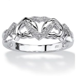 Brand New 18k Gold Plated Cubic Zirconia Heat Ring